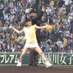 【山本彩】さや姉ノーバン始球式!しかし試合は神1-5ヤ。甲子園は歓迎ムードでした(^^)