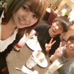 【磯佳奈江】いそちゃん、京川舞選手と武仲麗依選手とお食事へ。茨城出身の2人が関西で再会するなんて。