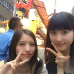 【林萌々香/井尻晏菜】京都は祇園祭の時期やで…。かわいこちゃん2人がお祭りに。夏どす。