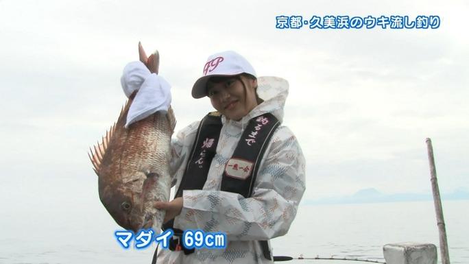 【門脇佳奈子】かなちき待望の釣りロケ!超デカい真鯛を釣り上げる!