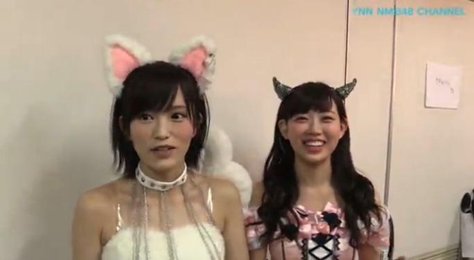 【NMB48】YNN配信「最後までわるきーでゴメンなさい2日目」舞台裏キャプ。固定カメラ映像が動いたw