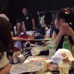 【中野麗来】 チームM・イヤホンガンガン伝言ゲームがめっちゃおもろいwマッサージの先生ニコニコw
