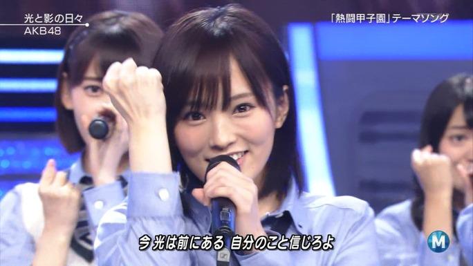 【山本彩/白間美瑠/矢倉楓子】Mステ・AKB48「光と影の日々」キャプ画像。最後お面wwww