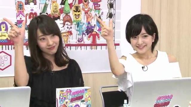 【須藤凜々花/藤江れいな】AKB48総選挙DVD&Blu-ray発売記念SP Showroomキャプ。似顔絵www
