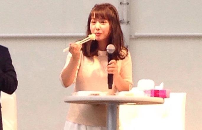 【山田菜々】宇都宮餃子祭りinOSAKA現地レポ画像。餃子と縁のある人だwww