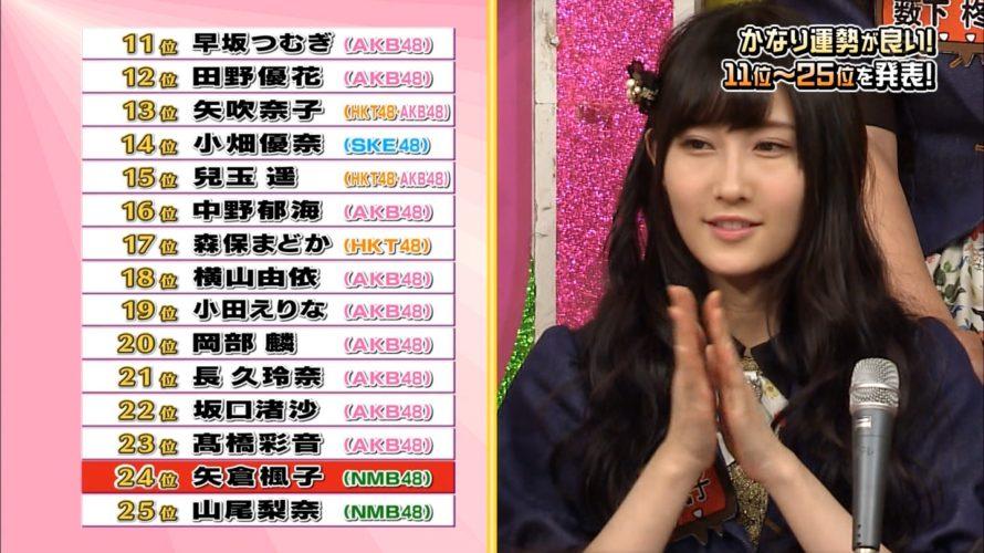 【NMB48】AKBINGO!ラッキーガールランキング!後半。けいっちが2位にランクインw