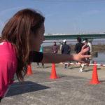 【福本愛菜】寛平マラソン2017動画ニュース。イビサガールで準備体操!あいにゃんバテバテw