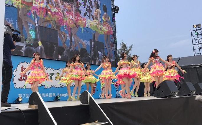 【NMB48】沖縄国際映画祭KawaiianTVスペシャルステージ金子支配人ぐぐたす投稿とマイナビニュース。