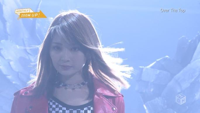 【岸野里香】Over Tne Top MUSIC ON TVの「ZOOM UP!」MONTHLY ZOOM UP!キャプ。