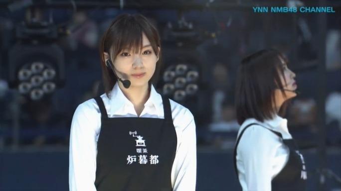 【NMB48】3/11京セラDイベント「茶店のガール舞台版」ニコ生キャプ画像。