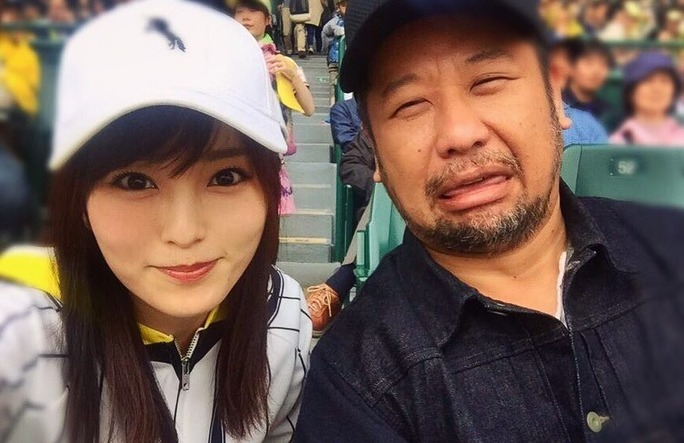 【山本彩】さや姉2017シーズン初の甲子園。始球式を努めたケンコバさんと遭遇w
