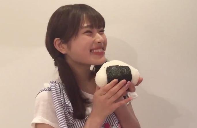 【渋谷凪咲】おにぎりデカいwそして絶対美味いwいい笑顔だwww