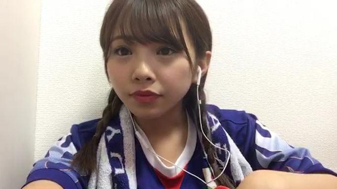 【磯佳奈江】いそちゃんアジア最終予選サッカー日本代表応援実況SHOWROOM、もったいないドローも見てるのは楽しかったw