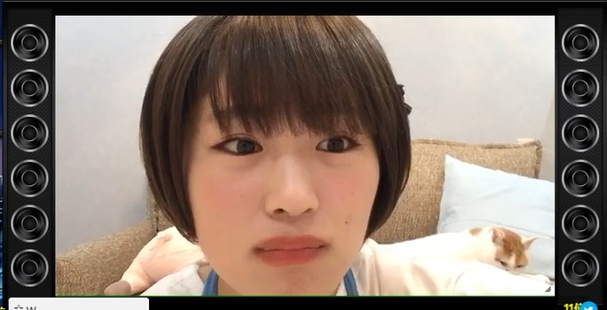 【渋谷凪咲】ミラクルミラクルスイカカーン、4ヶ月ぶり登場もすぐ帰るwなぎちゃんのスットコドッコイSHOWROOMw