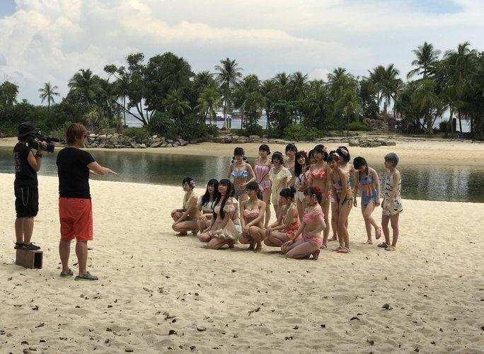 【NMB48】選抜っぽい画像キタ━(゚∀゚)━!18人の水着撮影の模様。