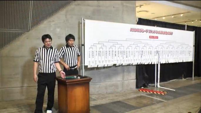 【NMB48】AKB48グループ ユニットじゃんけん大会2017本戦トーナメント票。一回戦の同門対決は1試合。