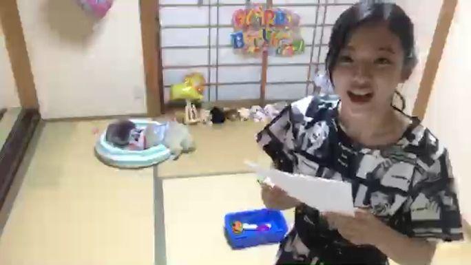 【溝川実来】みらい・あひる生誕祭SHOWROOMw手紙はママからw