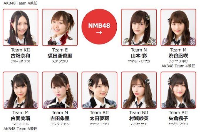 【NMB48】NHK紅白歌合戦の出演メンバー発表、NMB48からは7名。楽曲投票企画も開始。