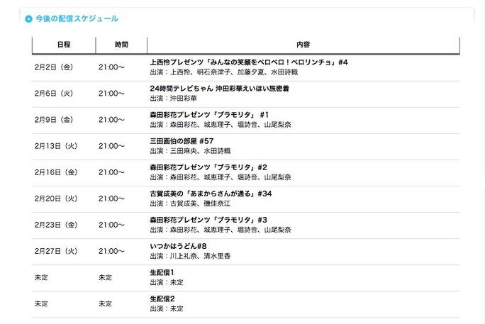 【NMB48】YNN 2月の配信スケジュール。えいほい旅密着・ブラモリタw