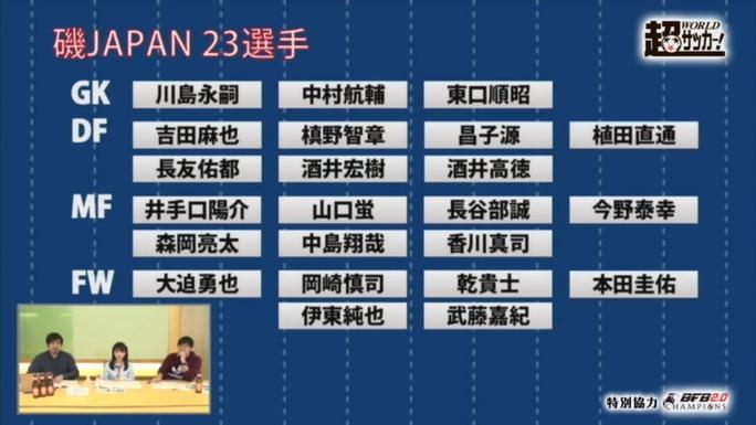 【磯佳奈江】いそちゃん出演「超ワールドサッカーTV」磯JAPAN23人発表。3/27のウクライナ戦裏実況にも。