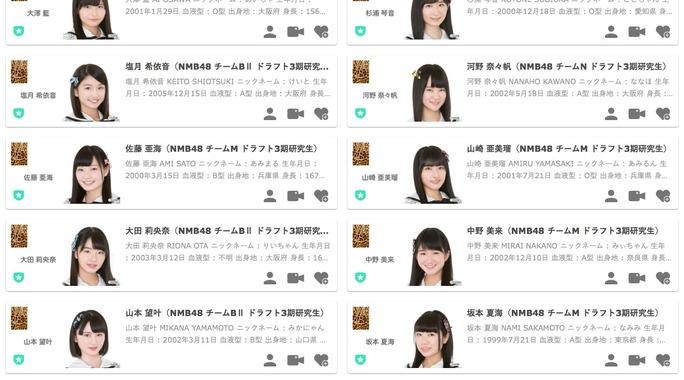 【NMB48】ドラフト3期生メンバーのSHOWROOMアカウントがNMB48のルームに移動。