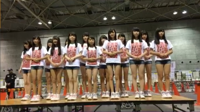 【NMB48】インテックス大阪握手会会場でNMB48 6期研究生お披露目。