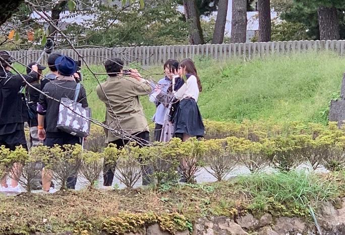 【NMB48】新YNN「もぐ姉」出演メンバーが小田原城でロケをしていた模様。