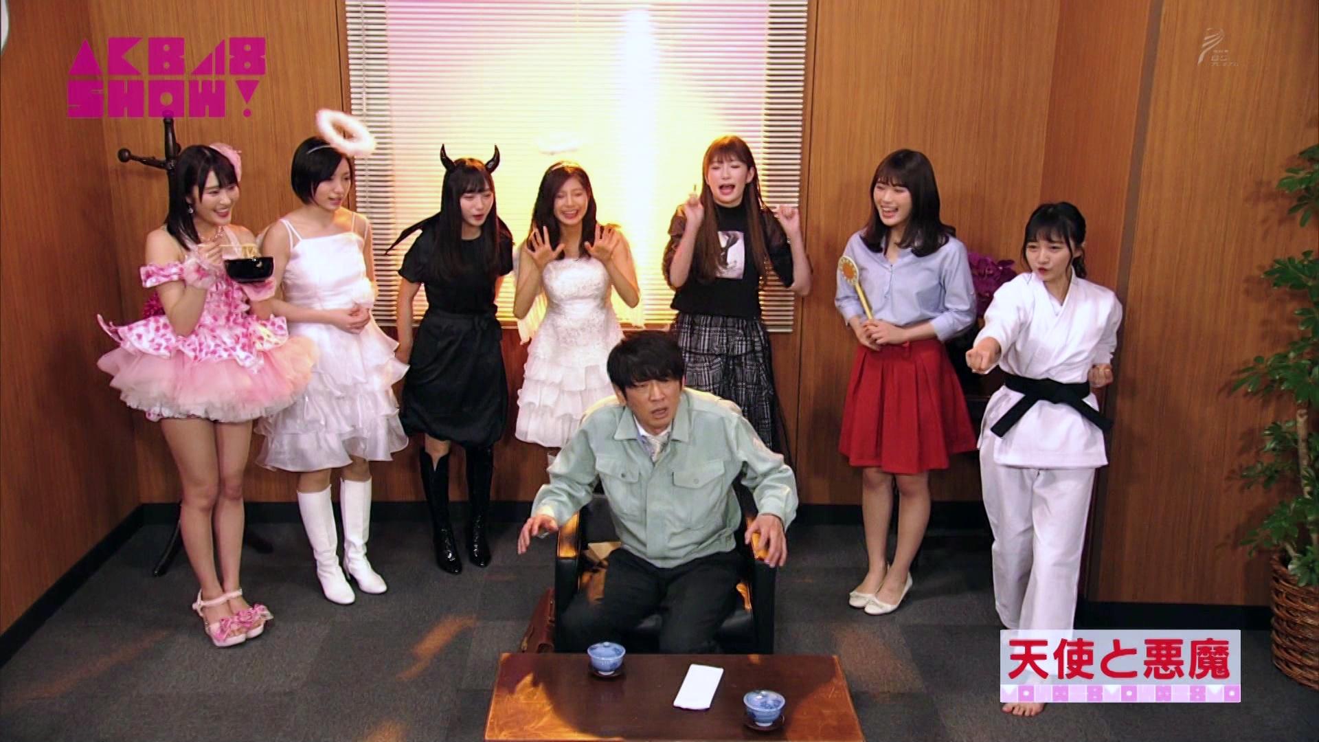 【NMB48】AKB48SHOW♯214キャプ画像。「ピンク色の世界」フルver.披露とコント「天使と悪魔」など。
