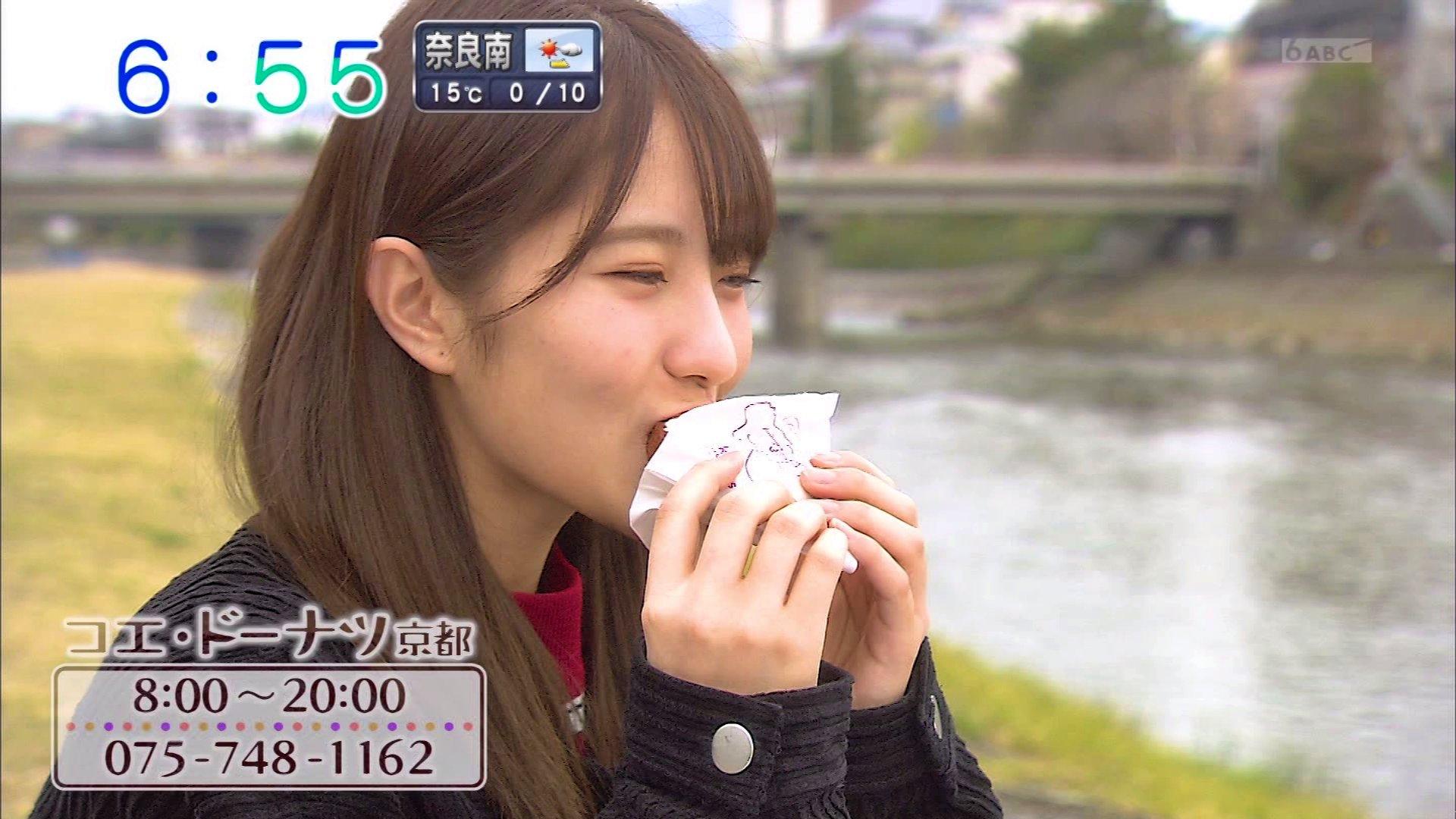 【小嶋花梨】こじりん出演 3/25「おはよう朝日です」サキヨミEnter・京都のドーナツ店を紹介。