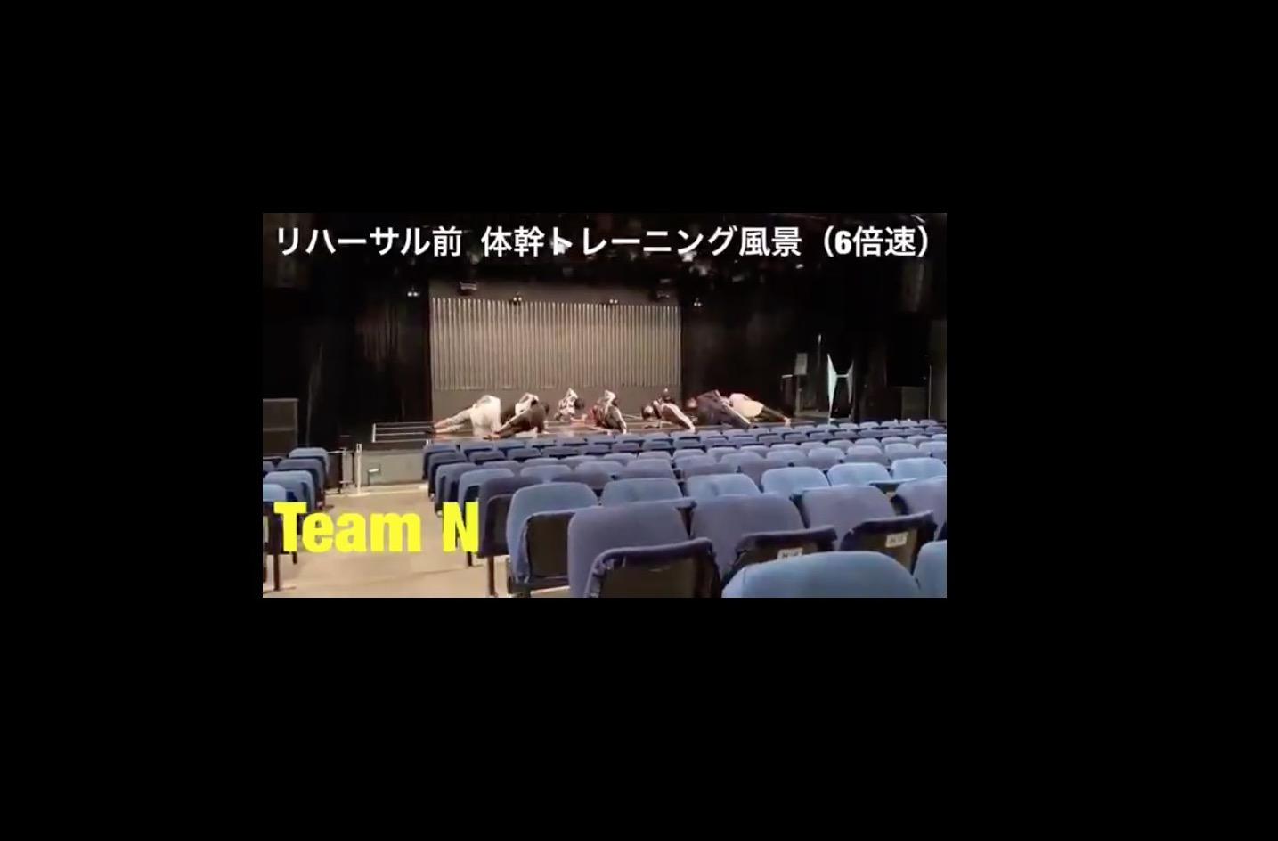 【森田彩花】あやてぃんが投稿したチームN体幹トレーニング動画が面白い。