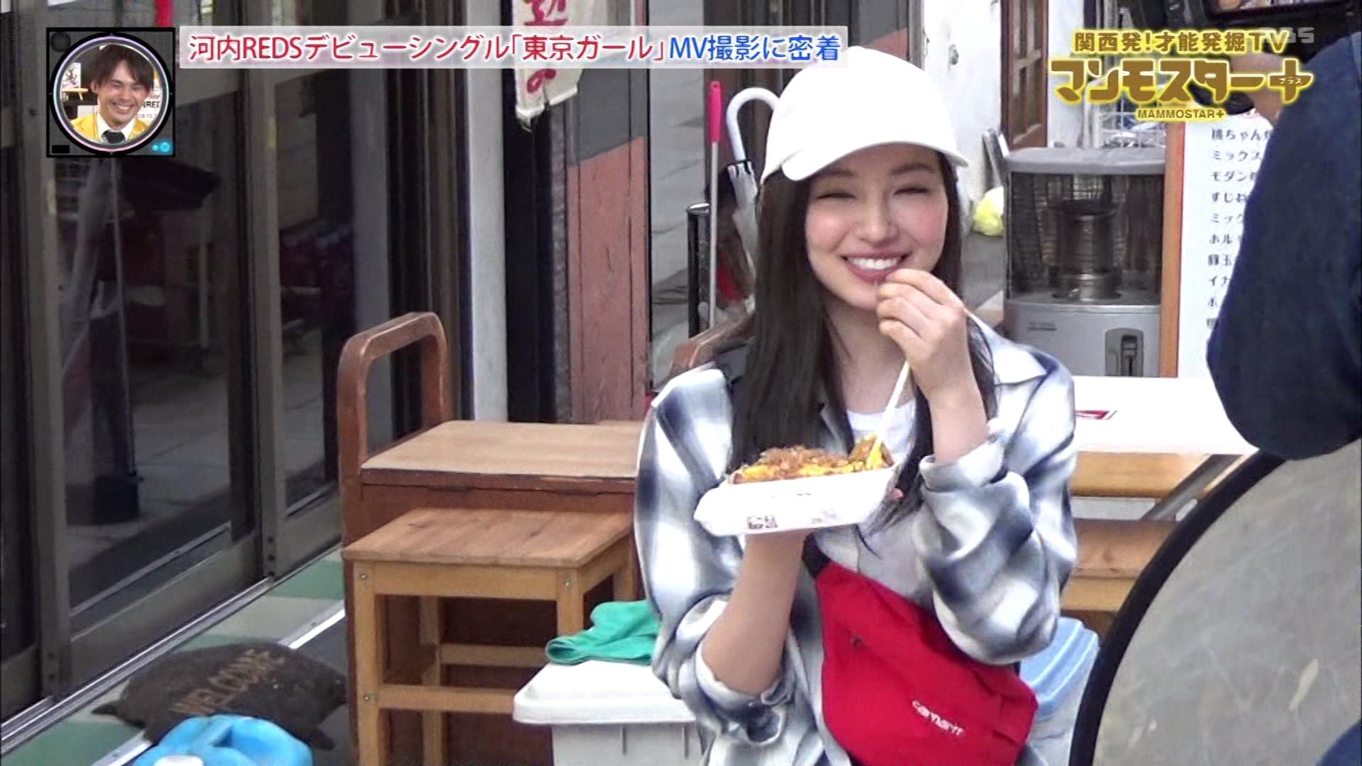 【村瀬紗英】さえぴぃ出演MV 河内REDS「東京ガール」の動画とマンモスター+のキャプ画像。