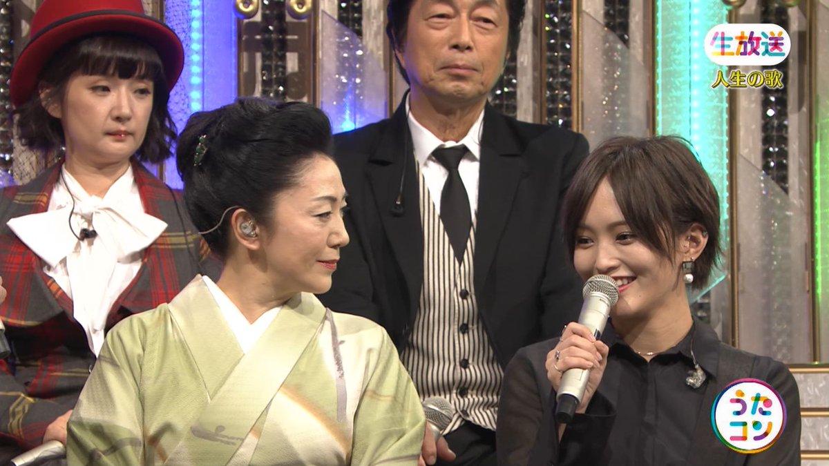 2019年9月16日に放送された「うたこん」に出演した山本彩・白間美瑠・吉田朱里のテレビキャプチャー画像-086