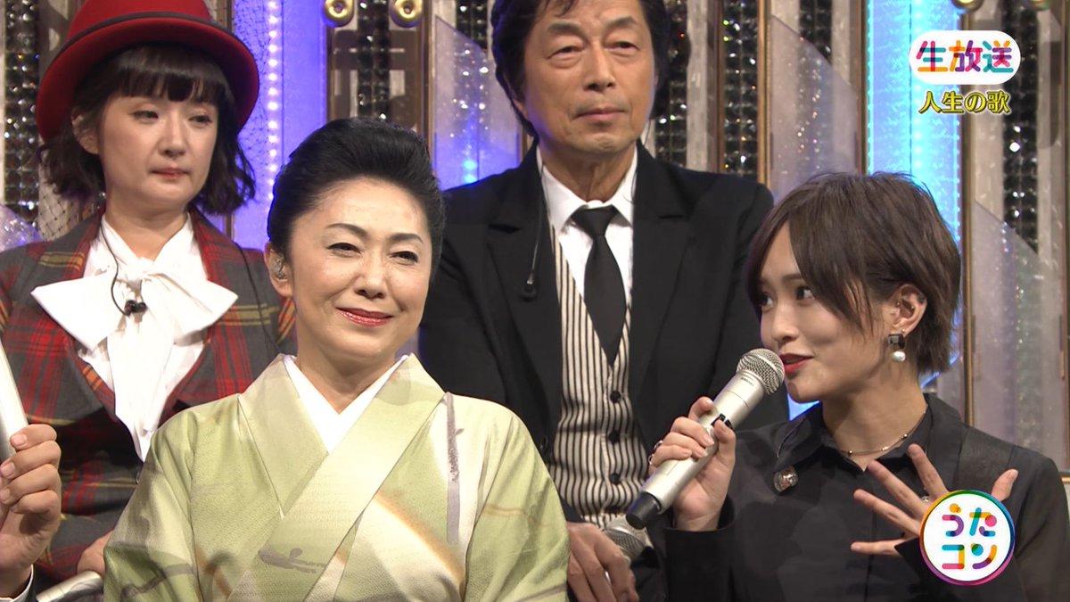 2019年9月16日に放送された「うたこん」に出演した山本彩・白間美瑠・吉田朱里のテレビキャプチャー画像-090