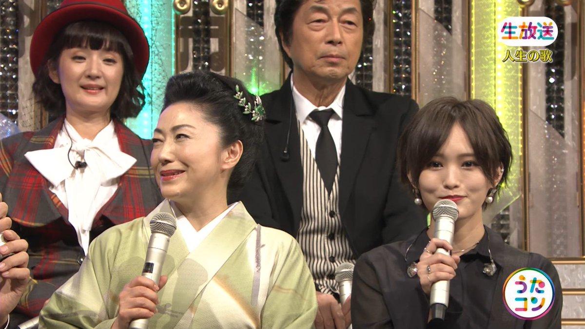 2019年9月16日に放送された「うたこん」に出演した山本彩・白間美瑠・吉田朱里のテレビキャプチャー画像-092