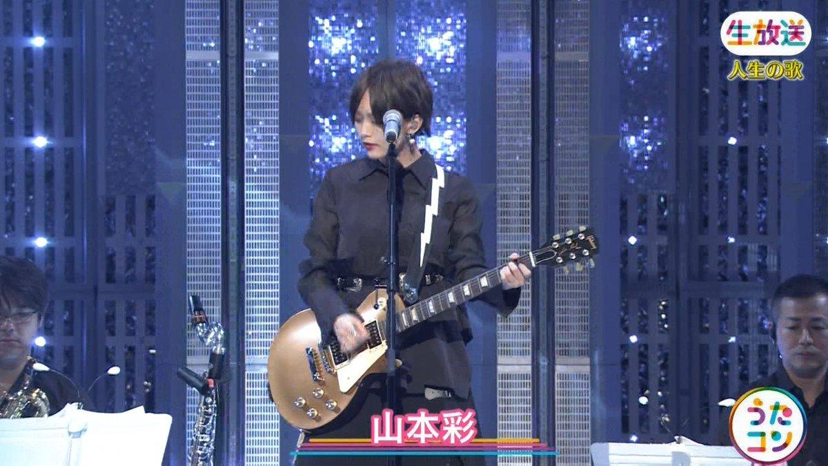 2019年9月16日に放送された「うたこん」に出演した山本彩・白間美瑠・吉田朱里のテレビキャプチャー画像-135