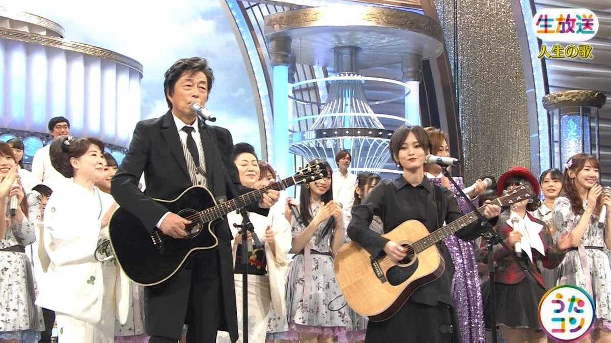 2019年9月16日に放送された「うたこん」に出演した山本彩・白間美瑠・吉田朱里のテレビキャプチャー画像-032