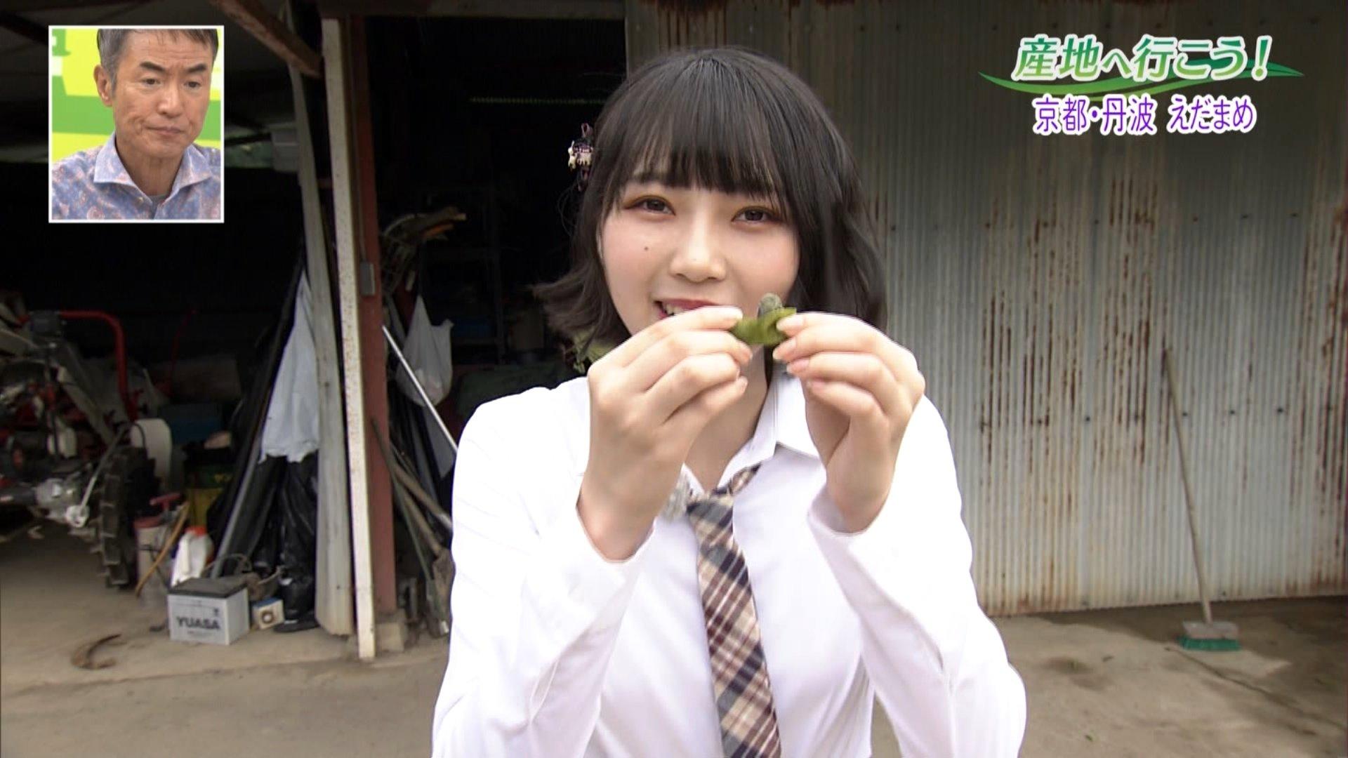 【前田令子】れいこが出演した10月7日放送「ぐるっと関西おひるまえ」の画像。京都・丹波の枝豆を取材