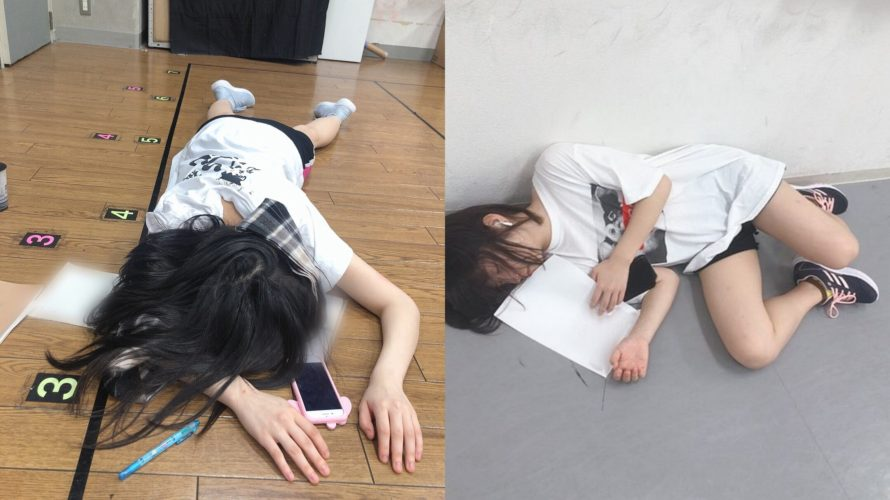 【安部若菜/堀ノ内百香】わかぽんの寝相に負けないももかの寝相