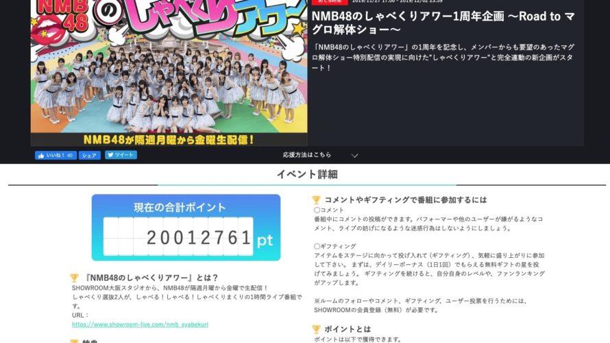 【NMB48】SHOWROOM「Road to マグロ解体ショー」2000万ポイント達成🐟🍣