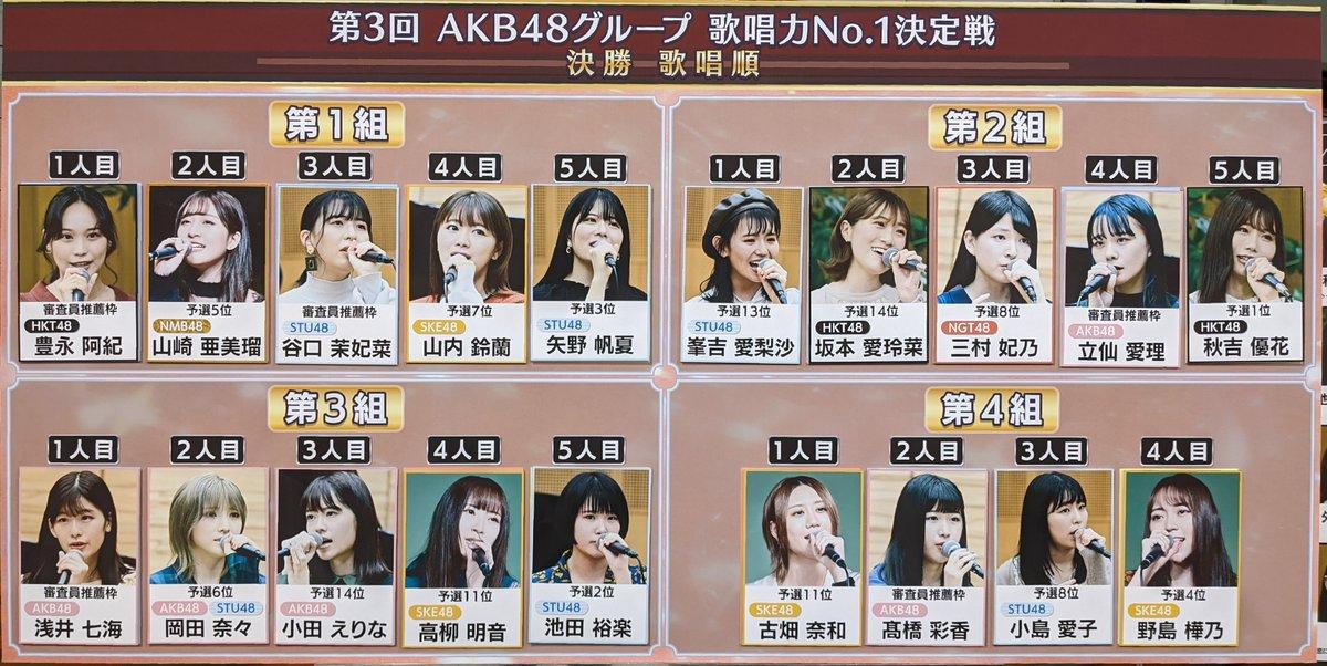 【山崎亜美瑠】第3回AKB48歌唱力No1決定戦決勝大会、あみるんは1組目2番手に登場