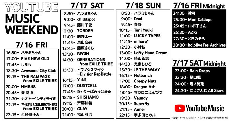 【NMB48】7月16日のYouTubeMusicWeekend Vol.3にNMB48が参加